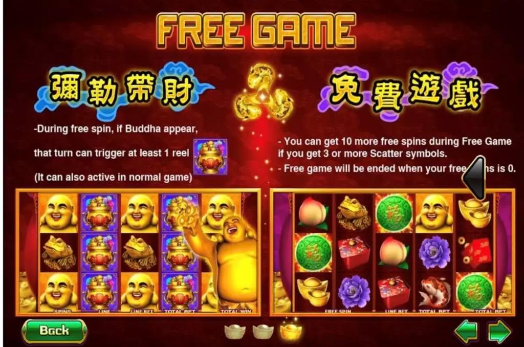 ฟีเจอร์ในเกม Happy Buddha Joker123tm