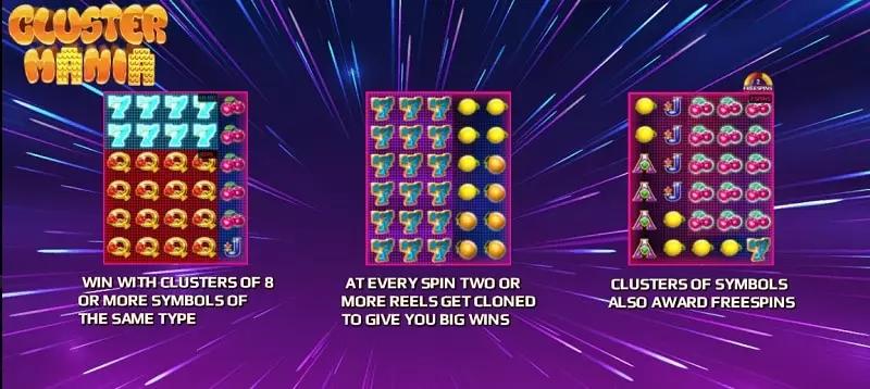 สัญลักษณ์ในเกม Cluster Mania Joker123tm