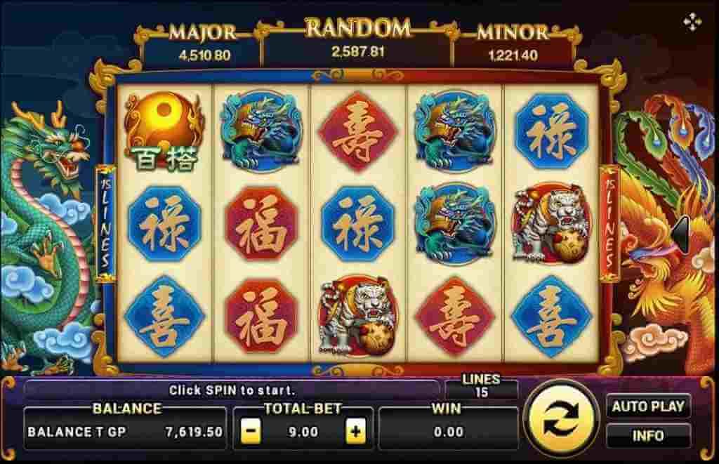 ธีมของเกม Dragon phoenix Joker123tm