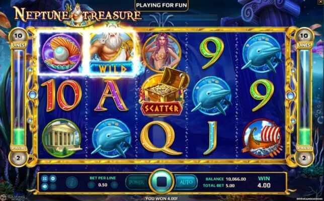 สัญลักษณ์ในเกม Neptune Treasure