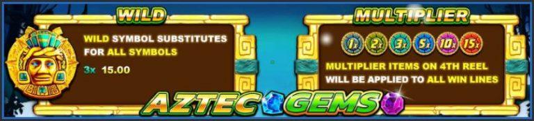 สูตรการเล่นเกมสล็อตออนไลน์ Aztec-Gems
