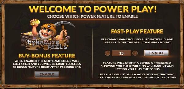Dynamite Reels การซื้อPowerฟรีสปินของเกม