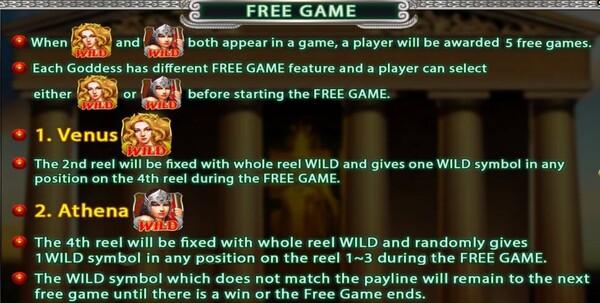 Hercules การทำฟรีสปินของเกม