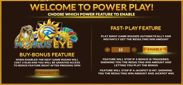 Horus Eye การซื้อPowerฟรีสปินของเกม