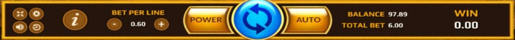 Horus Eye ปุ่มการกดเล่นของเกมส์