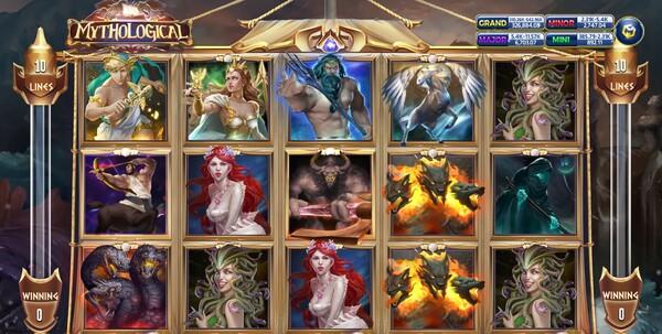 Mythological หน้าหลักของเกม