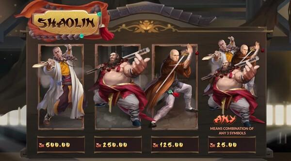 Shaolin อัตราจ่ายของเกม