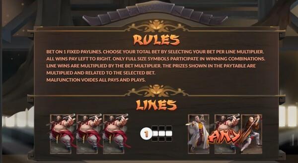 Shaolin ไลน์ชนะของเกม