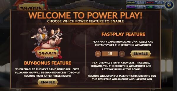 Shaolin การซื้อ Power Play ของเกม