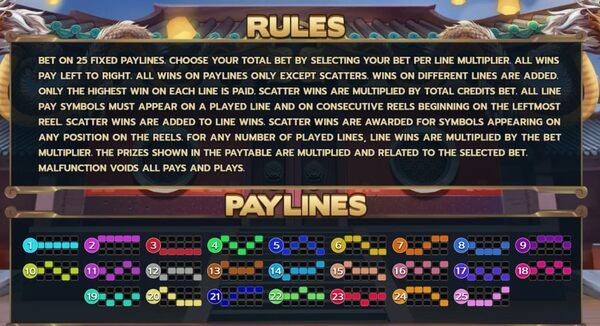 Rules PayLines
