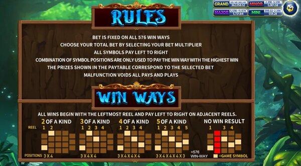 Rules & Win ways
